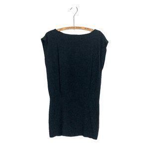 Theory Crepe Sheath Dress LBD Black
